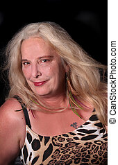 Mature woman in her mid fifties - Portrait of pretty mature...
