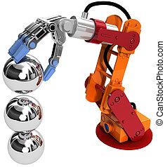 Robot arm technology industrial balls