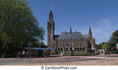 Peace Palace (Dutch: Vredespaleis) seat of international law...
