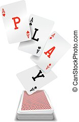 Play cards aces poker hand deck - Play word aces poker hand...