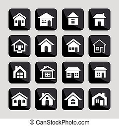 House icons - House estate architecture icon set
