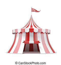 circus tent - circus tent isolated on a white background. 3d...
