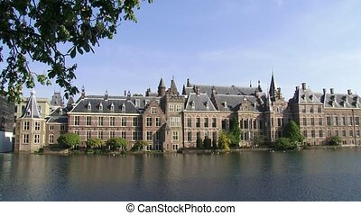 Binnenhof exterior complex of 13th century buildings, centre...