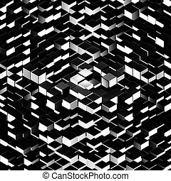 halftone representation of a large stack of cubes