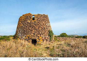 Ruiu nuraghe ruins near Chiaramonti in Sardinia - Italy