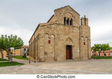 Old church San Simplicio in Olbia - Sardinia, Italy