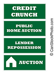 Home repossession signs - Credit crunch and home...