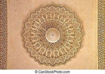 vacker, arkitektur, marockansk