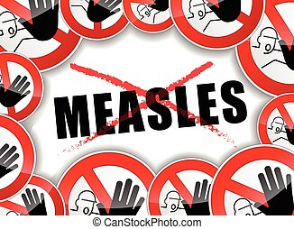 no measles abstract concept - illustration of no measles...
