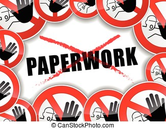 no paperwork abstract concept - illustration of no paperwork...