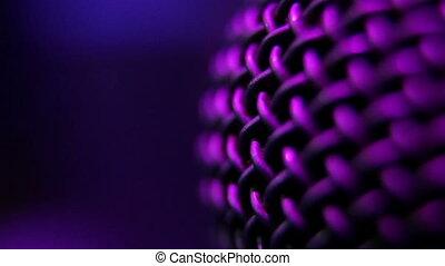 Microphone in the night club - Microphone closeup