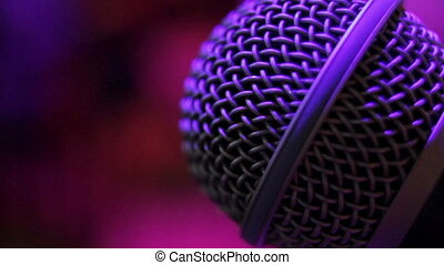 Microphone in the night club - Microphone closeup