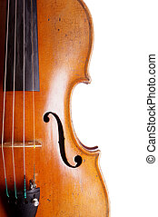 violin or fiddle detail - close-up of violin or fiddle...