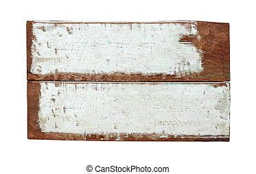 木製である, 白, 空, 背景, 印