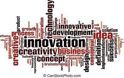 Innovation word cloud concept Vector illustration