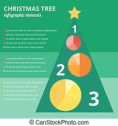 Christmas tree infographic elements