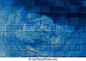 Graffiti brick wall - Colorful abstract graffiti on a brick...