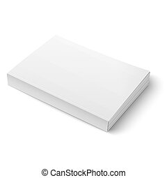 Blank softcover book template on white. - Blank softcover...