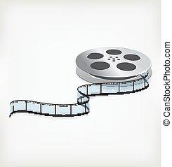 Film coil on a white background .illustration design