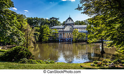 Parque del Buen Retiro - Conservatory with a mere on first...