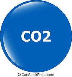 carbon dioxide web app icon, web button