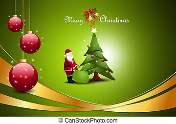 Christmas tree with santaclaus