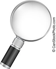 Magnifying Glass - Magnifying glass on white background,...