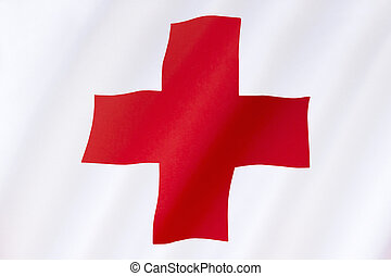 Flag of the Red Cross - International Aid - Flag of the Red...