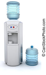 Water Cooler - 3D render of an office water cooler