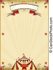 Fantastic brown circus vintage - A kraft circus poster for...