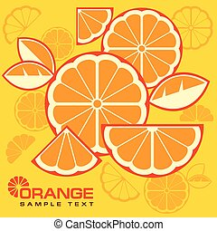 Citrus Fruit Slices background