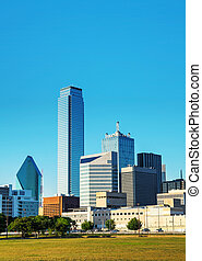 Dallas cityscape in the morning - Dallas, Texas cityscape in...