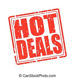 Hot deals red stamp text