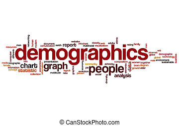 Demographics word cloud