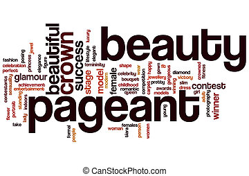 Beauty pageant word cloud concept