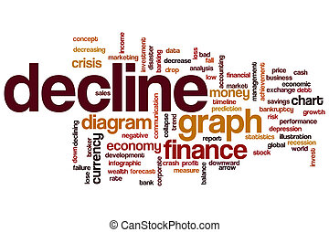 Decline word cloud concept