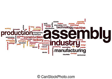 Assembly word cloud concept
