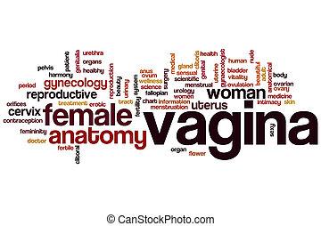 vagina, palavra, nuvem