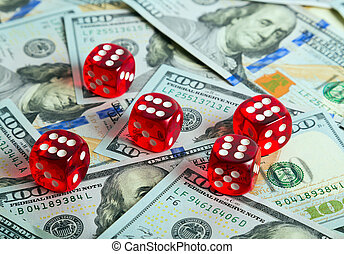 Dices Casino background dollar