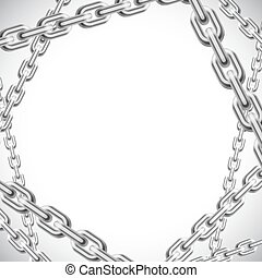 Background with chains.