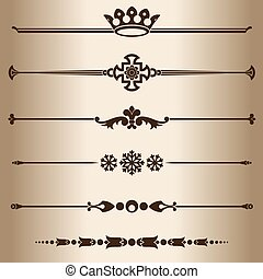 Decorative lines Elements for design - decorative line...