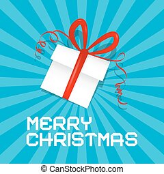 Merry Christmas Blue Vector Illustration