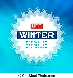 Hot Winter Sale Retro Blue Vector Background