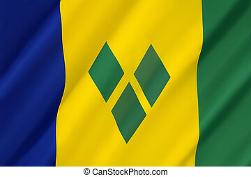 Flag of Saint Vincent and the Grenadines - adopted on 21st...