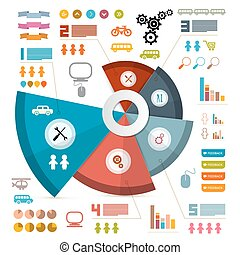 Infographics Vector Layout with Icons - Elements