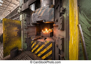 Hot iron in smeltery