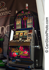 Slot machine - TRIESTE, ITALY - OCTOBER, 10: View of the...