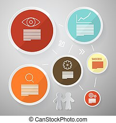Circle Vector Paper Infographics Layout - Template Set