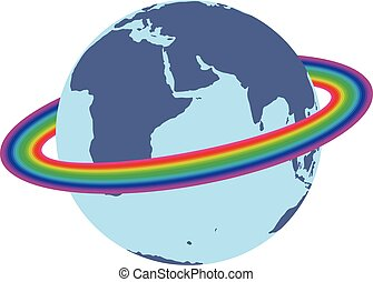 Rainbow around the earth