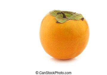 persimmon (kaki) fruit on a white background